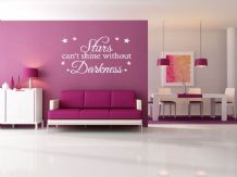 "Inspirational Wall Quote - ""Stars Can't Exist.."" Wall Art Sticker, Modern Decal,"